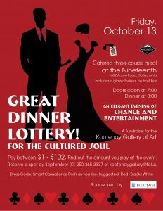 The Great Dinner Lottery @ The Nineteenth at Castlegar Golf Course | Castlegar | British Columbia | Canada