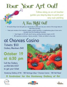 Pour Your Art Out! @ Chances Casino | Castlegar | British Columbia | Canada