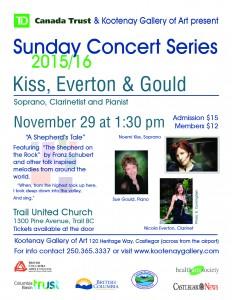 Kiss, Everton & Gould @ Trail United Church  | Trail | British Columbia | Canada