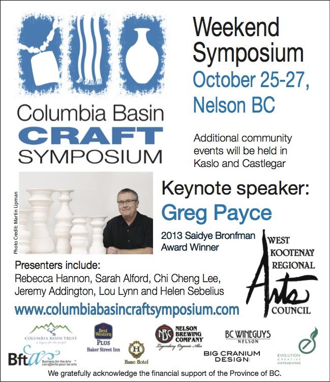 Columbia Basin Craft Symposium – Kootenay Gallery of Art