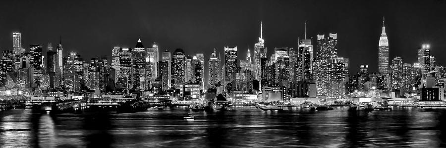 New-York-Skyline-Black-And-White-Silhouette
