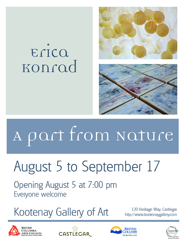 A part from Nature @ Kootenay Gallery of Art | Castlegar | British Columbia | Canada